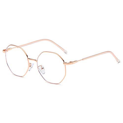 Dollger Blaulichtfilter Brille Computerbrille Anti Blaulicht Brille ohne sehstärke Metallgestell Brille Pc Gaming Bluelight Filter Uv Blockieren Blaue Licht Glasses Damen Herren Roségold