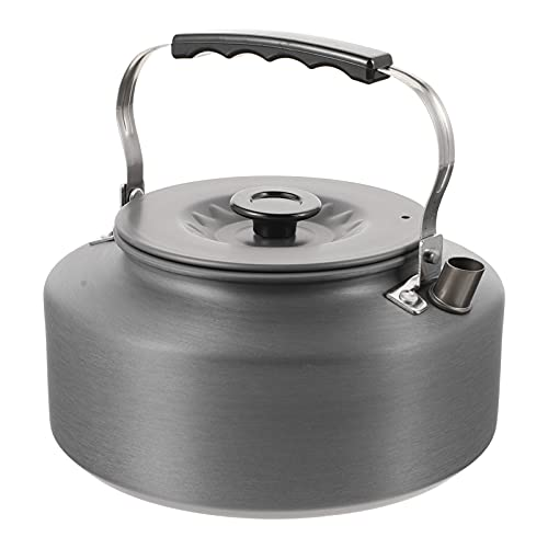 CLISPEED 1. 6 L para Acampar Aire Libre Hervidor de Té de Aluminio Compacto Ligero Recipiente de Agua Portátil para Senderismo Picnic Barbacoa