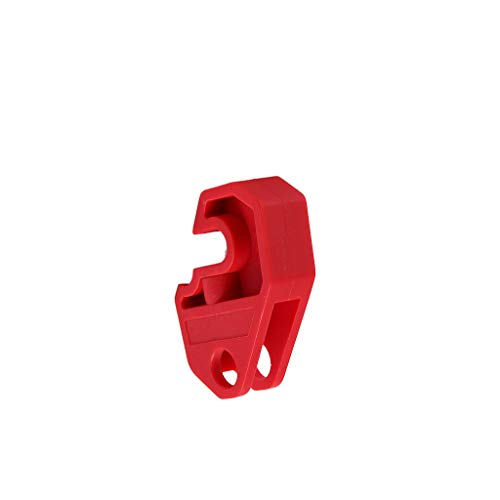 F Fityle Bloqueo Universal para Disyuntor de 10 Mm, Rojo, 51x21x14 Mm, Pasador de Seguridad, Entrada, Salida