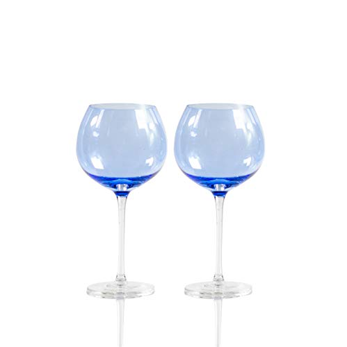 Sparkleware Gin Glasses Set of 2 Fully Gift Boxed (Blue)