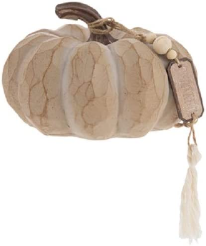 Thankful Mail order cheap Wood Look Pumpkin with Tassel Home Autumn Table Fall Beauty products De