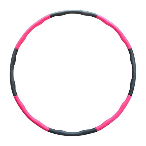 BXFUL Hula Hoop, Slimming Adult Model, Detachable Women\'s Fitness Weight Loss Equipment, Gray Red Foam (6 Sections 7 Sections 8 Sections Detachable-Freely Adjustable Size)