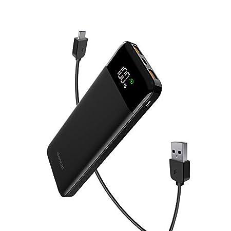 【24時まで】Charmast 最大18W入出力、Type-C PD&QC3.0対応3出力10400mAhモバイルバッテリー 1,479円送料無料!