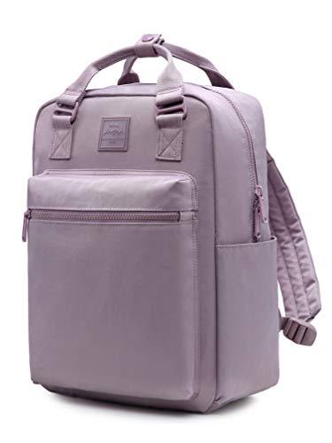 254s Backpack for Girls & Women, Minimalist Laptop Book Bag for Work, School, Travel, College, with 6 Pockets Inside, Languid Lavender