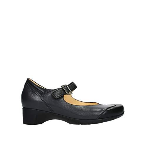 Wolky Comfort Riemchenschuhe Opal - 91000 schwarz Leder - 43