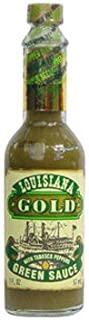 Louisiana Gold Green Sauce with Tobasco Peppers 2oz (pack of 3)