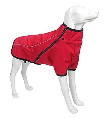 Geyecete Outdoor windproof 1/2 Leg jacket,Dog Winter Coat Outdoor sports suit Windproof clothes for pets,Pet Dog Warm Jacket Winter Clothing-Red-XXXL