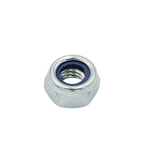 D2D | VPE: 4 Stück - Selbstsichernde Muttern niedrige Form - Größe: M24 - DIN 985 - galvanisch verzinkt - Sicherungsmuttern