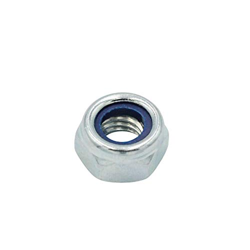 D2D | VPE: 10 Stück - Selbstsichernde Muttern niedrige Form - Größe: M16 - DIN 985 - galvanisch verzinkt - Sicherungsmuttern