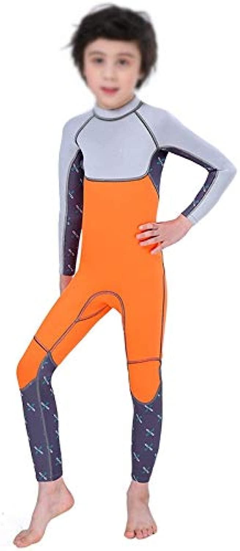 Zengqhui Wetsuit für Kinder 2.5mm Kindertauchanzug Warm Einteilige Boy Tauchen Surfen Quallen Neoprenanzug thermische Kinder (Farbe   B, Größe   XL)