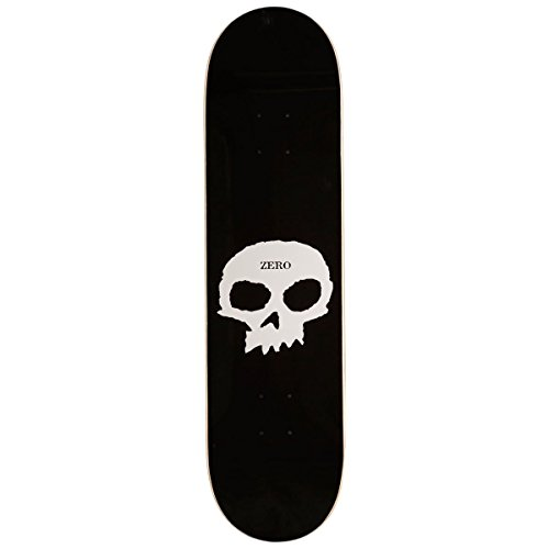 """Zero Single Skull Skateboard Deck - Black - 8.00"""""""