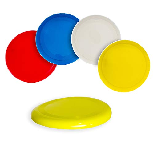 Fun Central 12 Pack  10 inch Flying Discs Backyard Games amp Sports Party Favors for Kids amp Adults  Assorted Colors