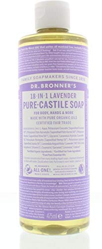 Dr Bronners Liquid Soap Lavendel, 475 Ml