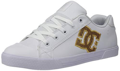 DC Women's Chelsea SE Skate Shoe, White/Gold, 10.5 M US