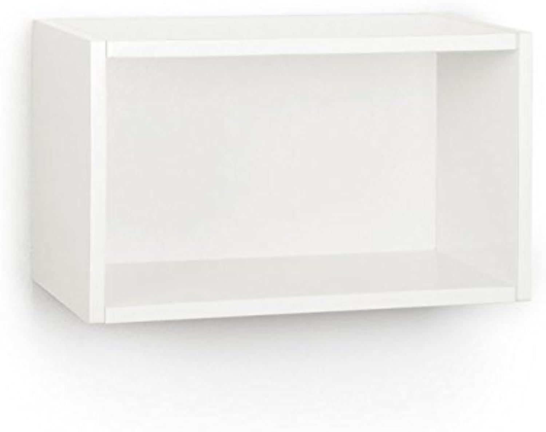 Way Basics WRECTWE Wall Rectangle and Decorative Shelf, White