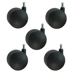 "Extra Large Heavy Duty Office Chair Casters 4"" Nylon Twin Wheel - Ideal for Carpet Set of 5"