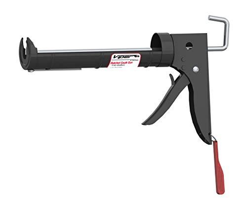 Albion Engineering R6B Viper Line Manual Barrel Ratchet Cartridge Caulking Gun, 1/10 Gallon (10 oz), 6:1 Drive, Black