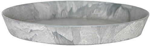 Artstone Sottovaso rund, resistente al gelo e leggero, Grigio, 30x4cm