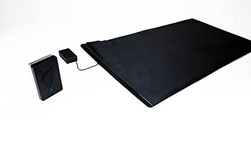 Pratoline Funk-Alarmtrittmatte - Pflegehilfe - mit Vibrationsempfänger - 70cm x 40cm - Demenz Sturzprävention - Wegläuferschutz
