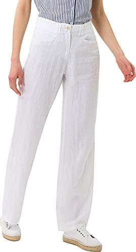 BRAX Damen Style Farina Leinenhose mit Legerer Silhouette Hose, Weiß (White 99), 44