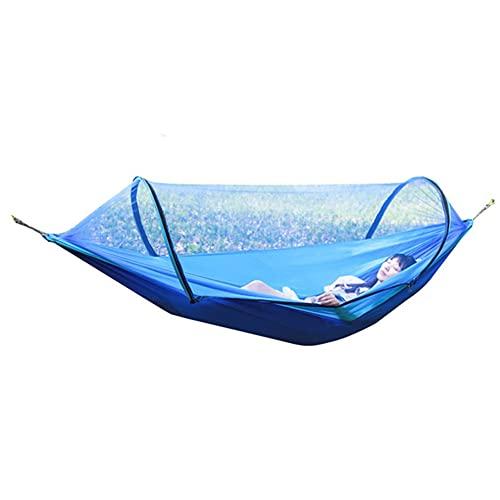Hamaca portátil para doble persona tienda dormir colgante hamaca cama bloqueo mosquitero incluyendo ganchos hebilla cuerda
