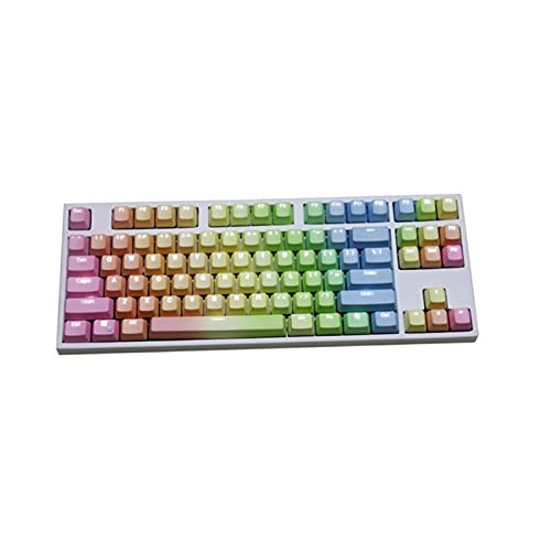 Conjunto de Llaves 1 Set Reemplazable PBT KeyCaps 87 104 108 Teclas de Letras Transparentes Tapa de la Llave de inyección para el Teclado mecánico Teclado keycaps (Color : A)