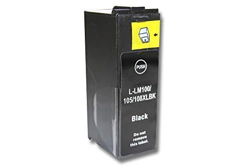 vhbw Cartucho de Tinta Negro reemplaza Lexmark 100, 100 XL, 100 XLA, 100XL, 100XLA, 105, 105XL (Compatible, 19 ml)