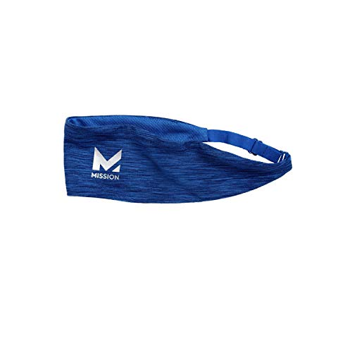 Mission Cooling Lockdown Headband- Cools when Wet, Adjustable- Royal Space Dye