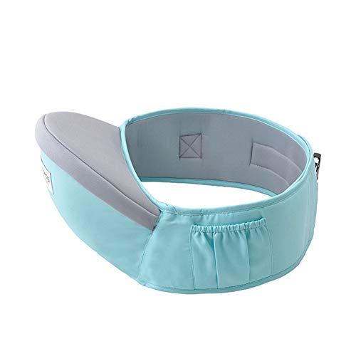 Baby Hüftsitz, KEEZSHOP Baby Taille Hocker Position Einstellbar länger Gürtel Leichte Babytrage, Geschenk für Neue Eltern - Hellblau