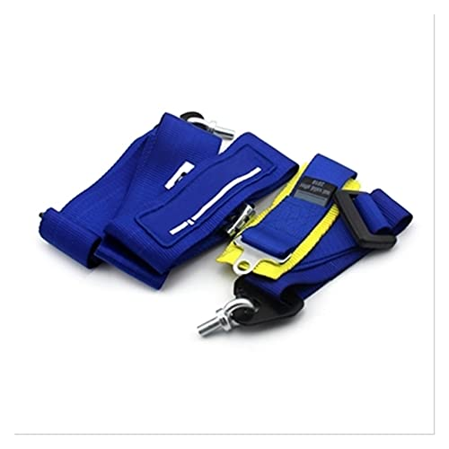 MAYINGXUE Tuning Monster Racing Competition Cinturón de Seguridad de 3'Punto de 4 Puntos Arnés de cinturón de Seguridad con Logotipo y Cerradura de Leva (Color Name : Blue)