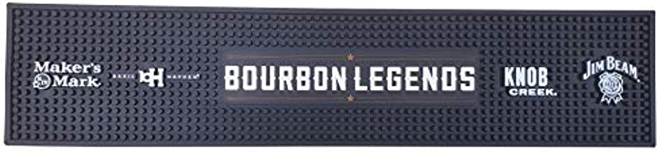 Bourbon Legends Bar Mat Spill Rail Officially Licensed Mat - 23.5