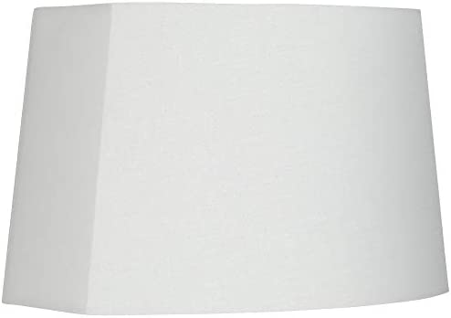 White Modified Oval Lamp Shade 10 12 5x11 15x10 Spider Springcrest product image