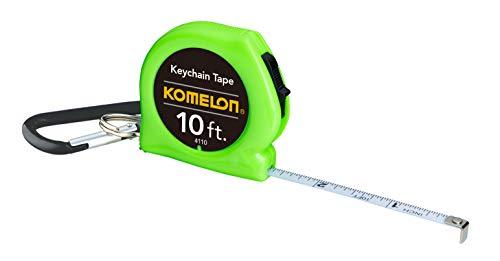 Komelon 4110CS Keychain Tape Measure Acrylic Coated Steel Blade 10' by 1/4