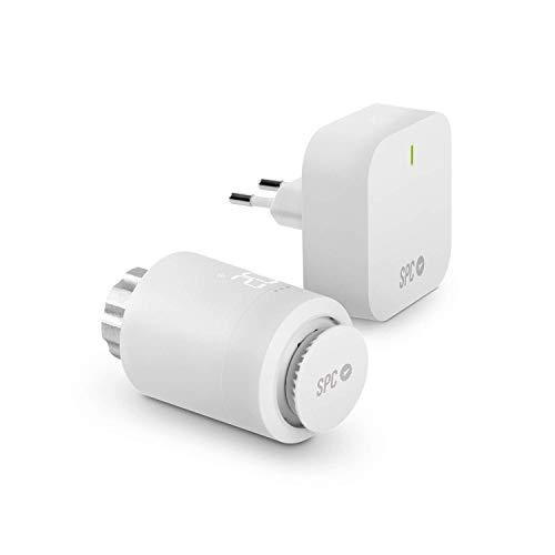 Vesta Starter Kit: Válvula termostática Wi-Fi para radiador, Control Inteligente de la calefacción Mediante SPC IoT App, Amazon Alexa, Google Assistant