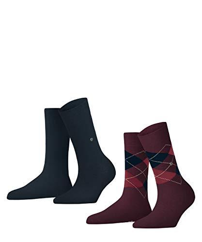 Burlington Damen Everyday 2-Pack W SO Socken, Rot (Claret 8375), 36-41 (UK 3.5-7 Ι US 6-9.5) (2er Pack)