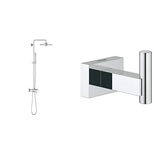 Grohe 23061002 Euphoria Concetto 260 - Sistema de ducha con grifo monomando, alcachofa SmartControl de 260mm con solución de ahorro de agua + Colgador de albornoz, fijación empotrada (Ref. 40511001)