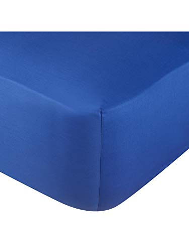 Rohi Extra Deep 16'/40cm Deep Fitted Bed Sheets – Easy Care Deep Fitted Mattress Bed Sheets (Royal Blue, Small Double)