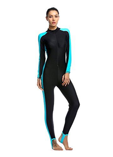OUO Damen blau XL UV-Anzug UPF>50 Schutz swetsuit Schwimmanzug Overall Watersport