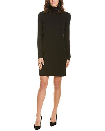 Three Dots Damen AA5836 Heritage Knit Turtleneck Dress Lssiges Kleid, schwarz, X-Klein