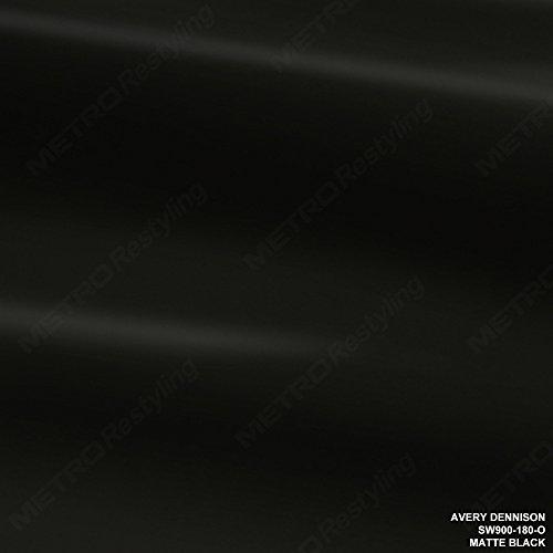 Avery SW900-180-O MATTE BLACK 60in x 12in (5 Sq/ft) Supreme Vinyl Car Wrap Film
