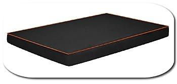 Fortisline Coussin pour Chien O'AHU Tapis Matelas orthopédique XL 120x80x8 cm Noir/Orange W419_02