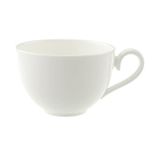 Villeroy & Boch - Royal Kaffeetasse, filigrane Tasse mit geschwungenem Henkel aus hochwertigem Premium Bone Porzellan, spülmaschinenfest, 200 ml