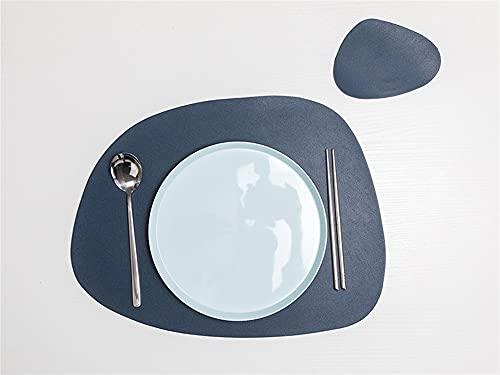 SHUJINGNCE Beau Style Plaque de Vaisselle Plaque de Table de Table PU en Cuir PU Tapis Tapis de Chaleur Isolation Thermique Placements antidérapants Bol Coaster Cuisine Accessoire