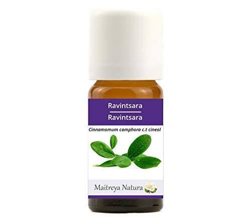 Maitreya Natura Olio Essenziale biologico RAVINTSARA 100% puro e naturale, 10ml - aromaterapia, diffusore, vie respiratorie, cosmetica - qualità premium, controllata e certificata, vegan
