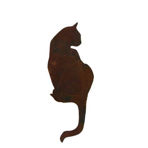 Unbekannt Statuette décorative de jardin en forme de chat assis - En métal - Hauteur : 50 cm