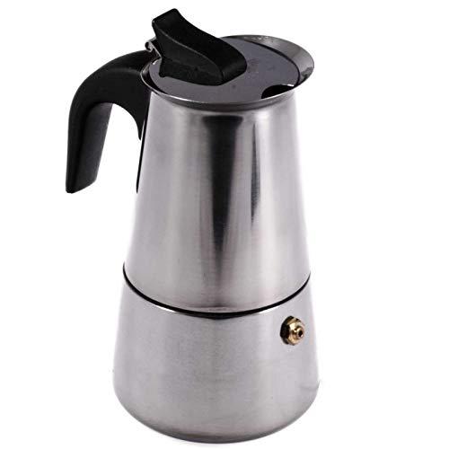 SIDCO Espressokocher Espressokanne Espressomaker Edelstahl Kaffeekocher f. 2 Tassen