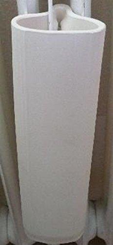 Wiegand 4 Stück Hängeverdunster für Rippenheizkörper aus Keramik Dekor weiß lasiert hergestellt in Deutschland