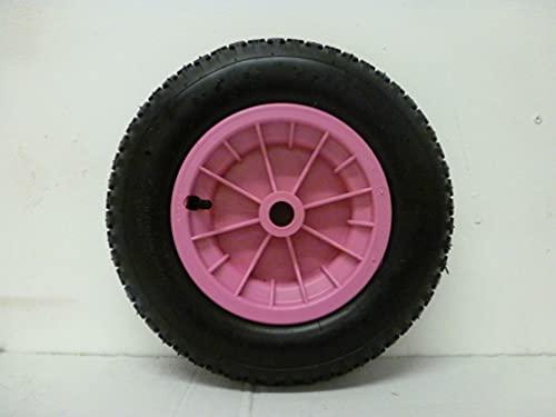 "SYTZTOOLS 4PLY roze Kruiwagen Launching Trolley Wiel Pneumatische 14 ""Met 1/2"" Reducers"
