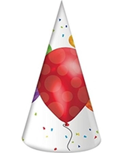 Purchase Club Pack of 48 Balloon Blast Multicolor Adult-Sized Birthday Party Hat Favor 7
