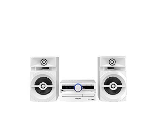 Panasonic SC-UX104EG-W - Micromusica CD (Bluetooth, Tuner (DAB+/FM), USB, AUX-IN, DJ Jukebox, 300 Watt RMS), colore: Bianco
